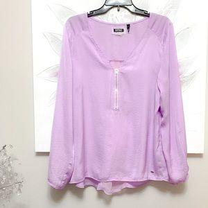 Buffalo David Bitton Lavender Blouse Size L